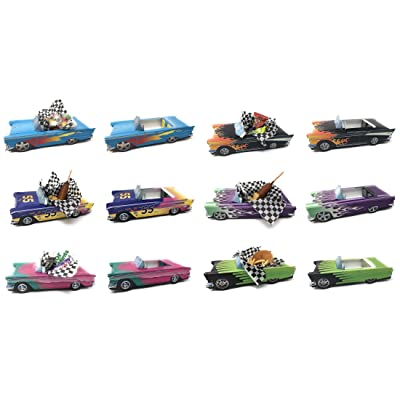 12 Classic Car Party Food Boxes - Hot Rod Collection (2 ea.): Toys & Games