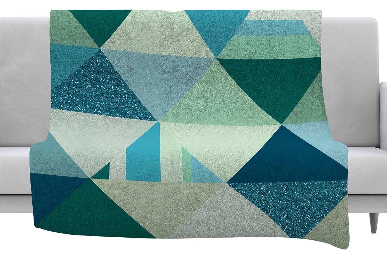 Kess InHouse Noonday Design The Triangle Geometric Blue Throw, 40' x 30' Fleece Blanket
