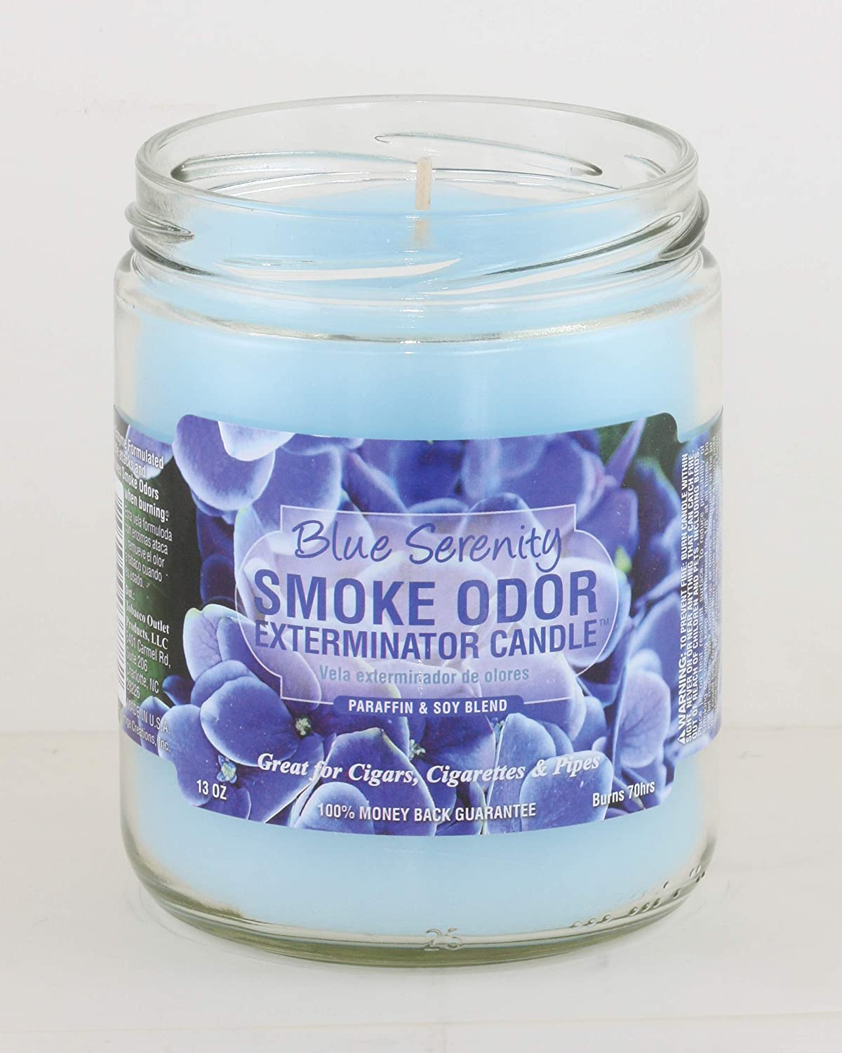 Smoke Odor Exterminator 13oz Jar Candles (Blue Serenity, 2)
