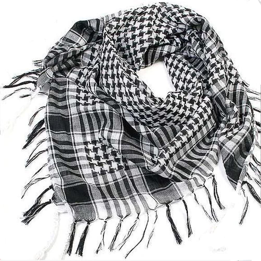 MiaoMa 100/% Cotone Military shemagh Tactical Desert Keffiyeh Scarf Wrap