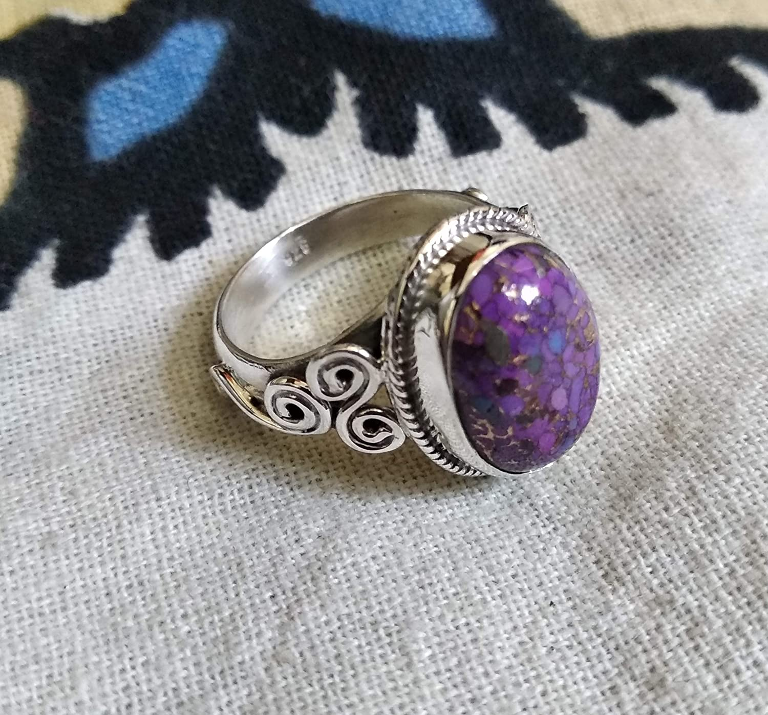 purple turquoise 925 silver pendent gift for her!