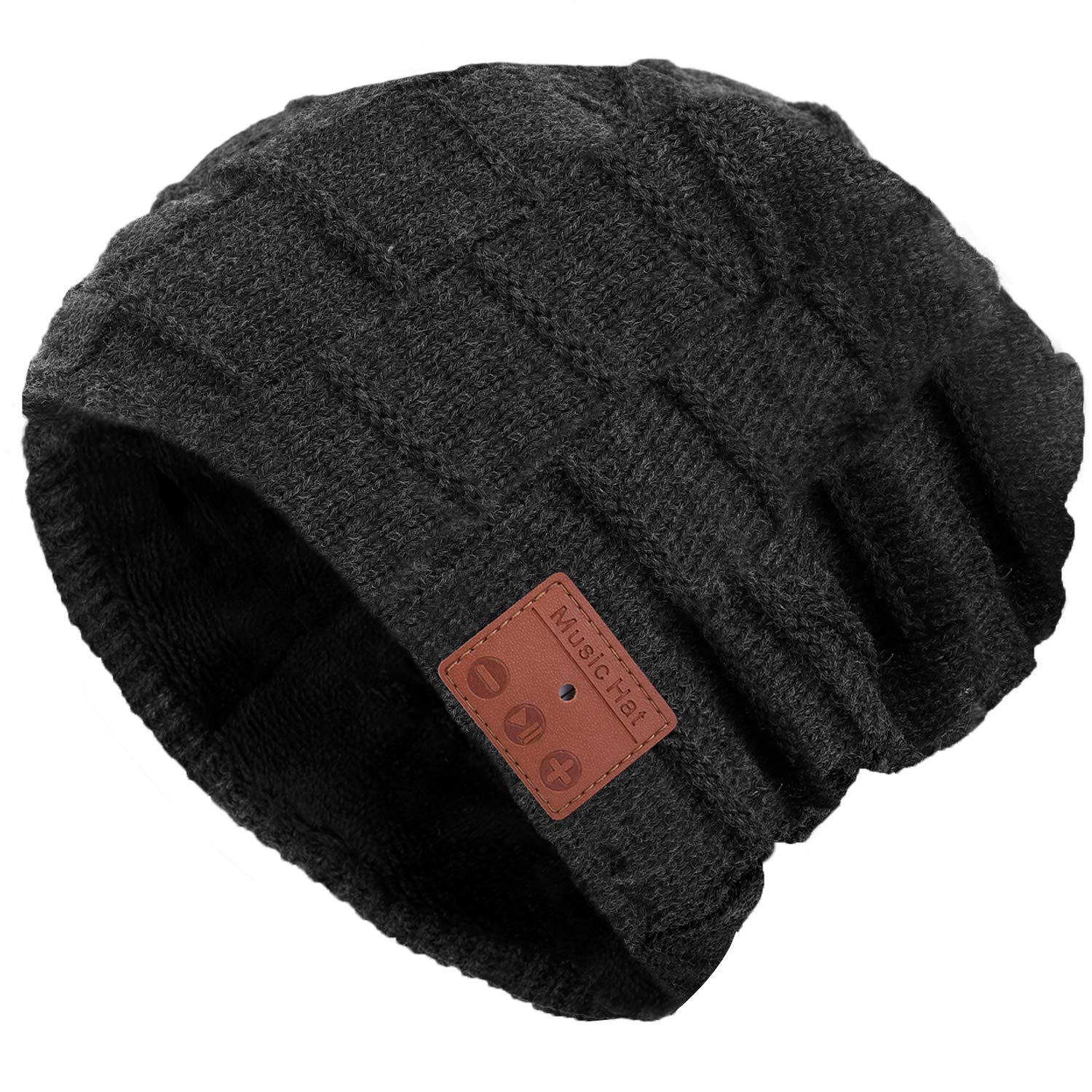 G.D.SMITH Bluetooth Beanie Hat Hand Free Wireless Music Hat Knit Cap with Speakerphone Stereo Headphone for Outdoor Sport Unique Christmas Tech Gifts for Women Men Boys and Girls Gray