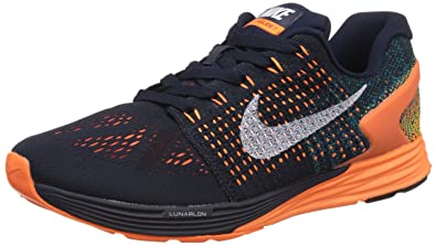 finest selection 9de30 273d6 ... france nike mens lunarglide 7 white orange running shoes 8.5 uk india  43 b2322 cdfcc