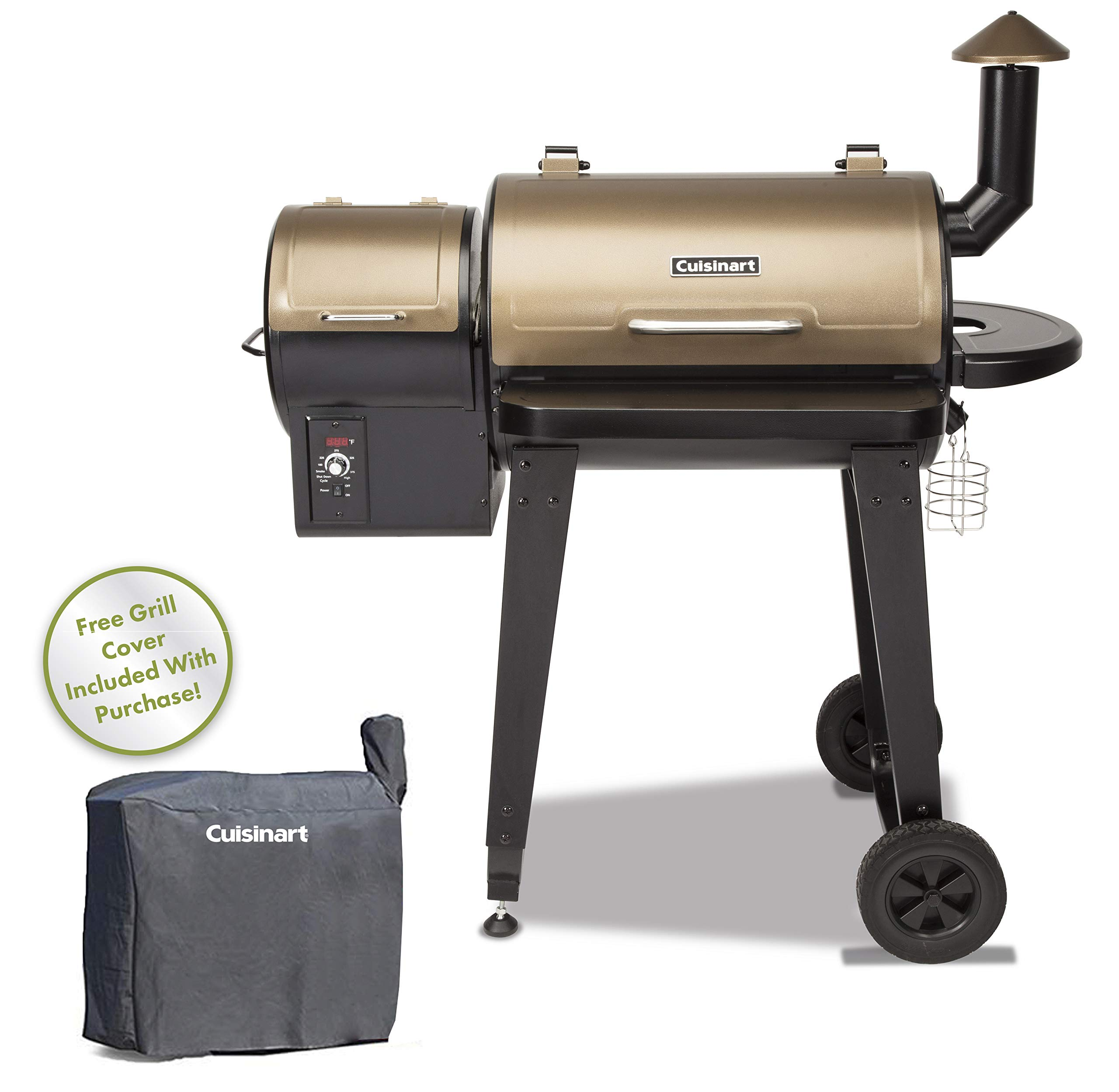 Cuisinart CPG-4000 Wood BBQ Grill & Smoker Pellet Grill and Smoker, 45'' x 49'' x 39.4'', Black by Cuisinart