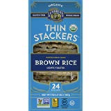 Lundberg Organic Thin Stackers Grain Cakes, Brown Rice Lightly Salted, 5.9 Ounce (Pack of 12)