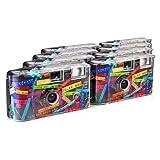 TopShot I mog - Macchine fotografiche usa e getta, 27 foto, flash, confezione da 8, colore: Nero