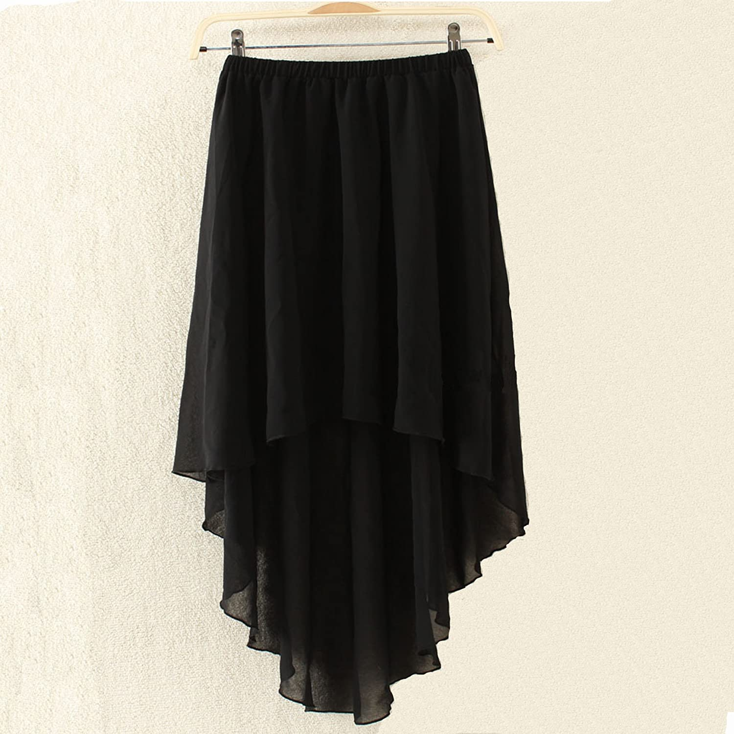 2014 New Arrival High Low Hem Chiffon Middle Skirt