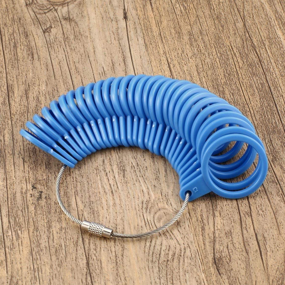 Couleur: Bleu Garciaria Outil de Mesure de Bijoux Outil de Mesure de Base pour Bijoux Taille adapt/ée /à la Taille US 0 /à 13 Taille du bijoutier Boucle