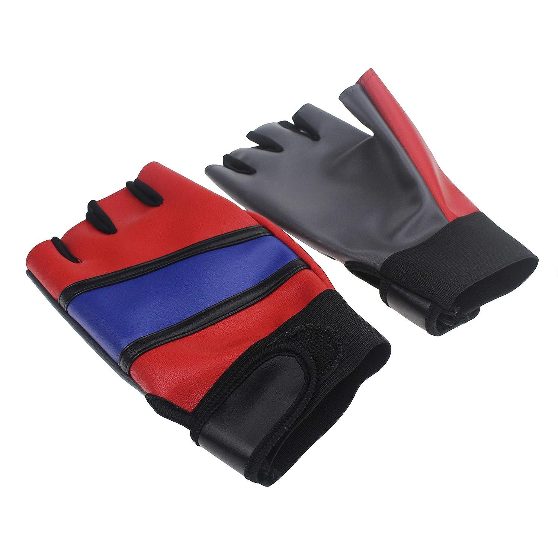 Udekit Adjustable Leather Gloves For Women Girl Kid Harley Quinn Cosplay Costume