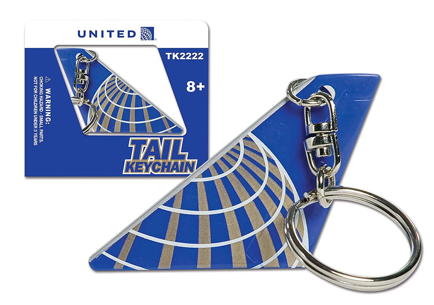 United Airlines Tail Keychain Daron UNITEDKEY030811