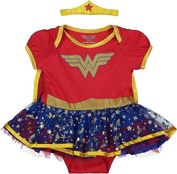 DC Comics Body Vestido de Verano de Wonder Woman con Capa y Tiara ...
