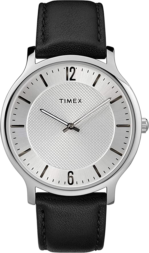 Amazon.com: Timex Men's TW2R50000 Metropolitan 40mm Black/Silver-Tone  Leather Strap Watch: Watches