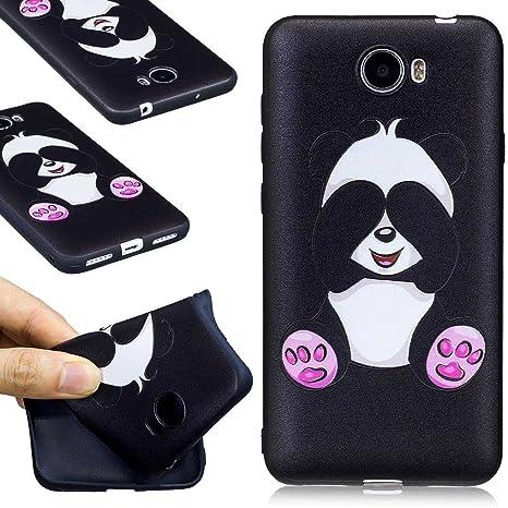 Guran® Carcasa Silicona TPU Protectora Funda Case para Huawei Y5 II Smartphone Bumper Shock Cover Caso - Panda tímido