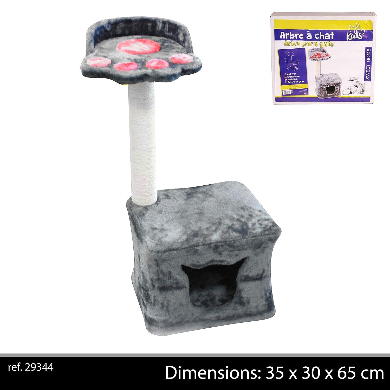 Albero per Gatti Dimensione casa per Gatti: 30,0 x 30,0 x 24,9 cm Materiale: MDF Marrone 120 cm Todeco 4 Piattaforme Alberi Tiragraffi per Gatti