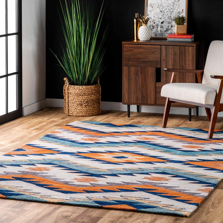 Amazon Com Nuloom Rhona Tribal Area Rug 5 X 8 Multi Furniture Decor