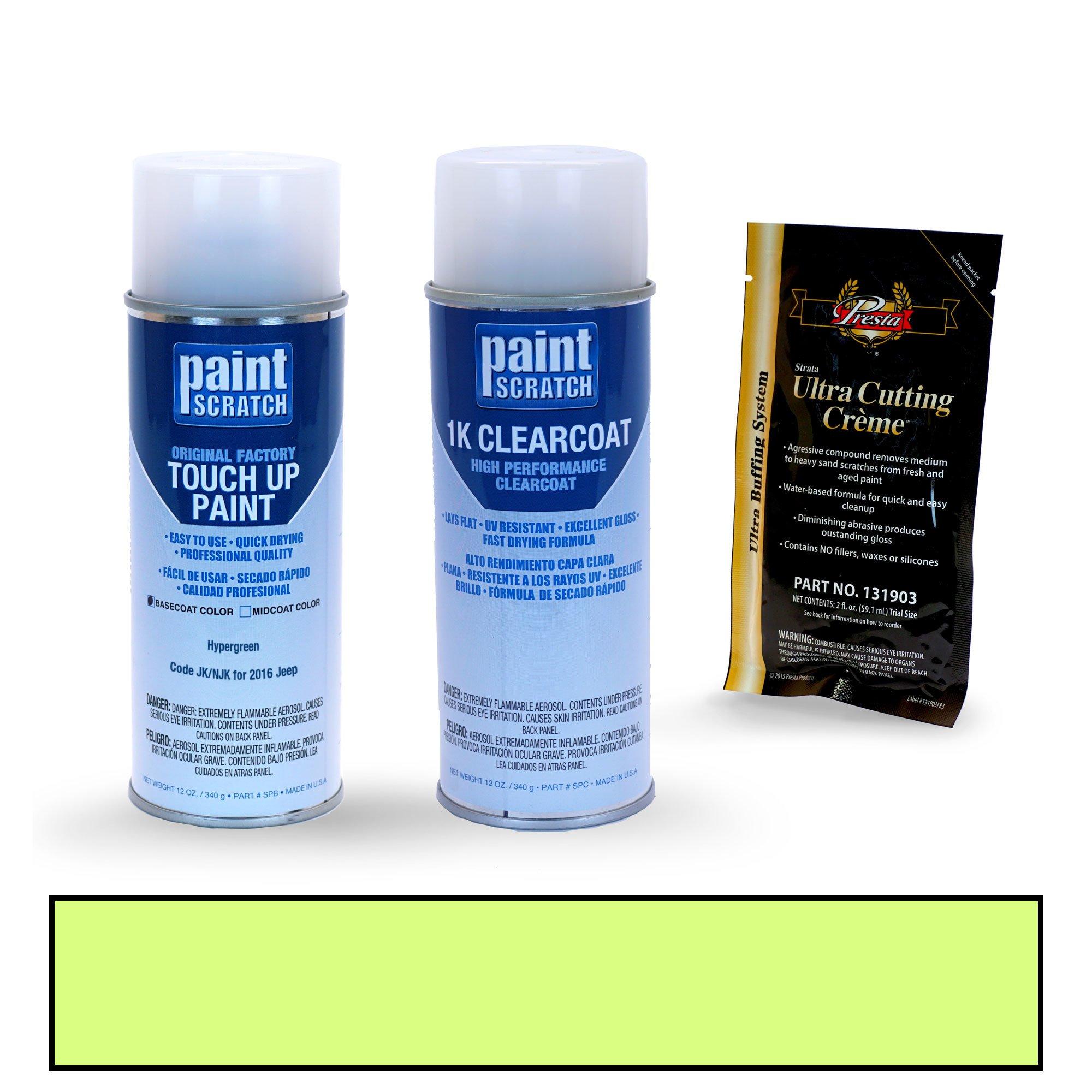 PAINTSCRATCH Hypergreen JK/NJK for 2016 Jeep Wrangler - Touch Up Paint Spray Can Kit - Original Factory OEM Automotive Paint - Color Match Guaranteed
