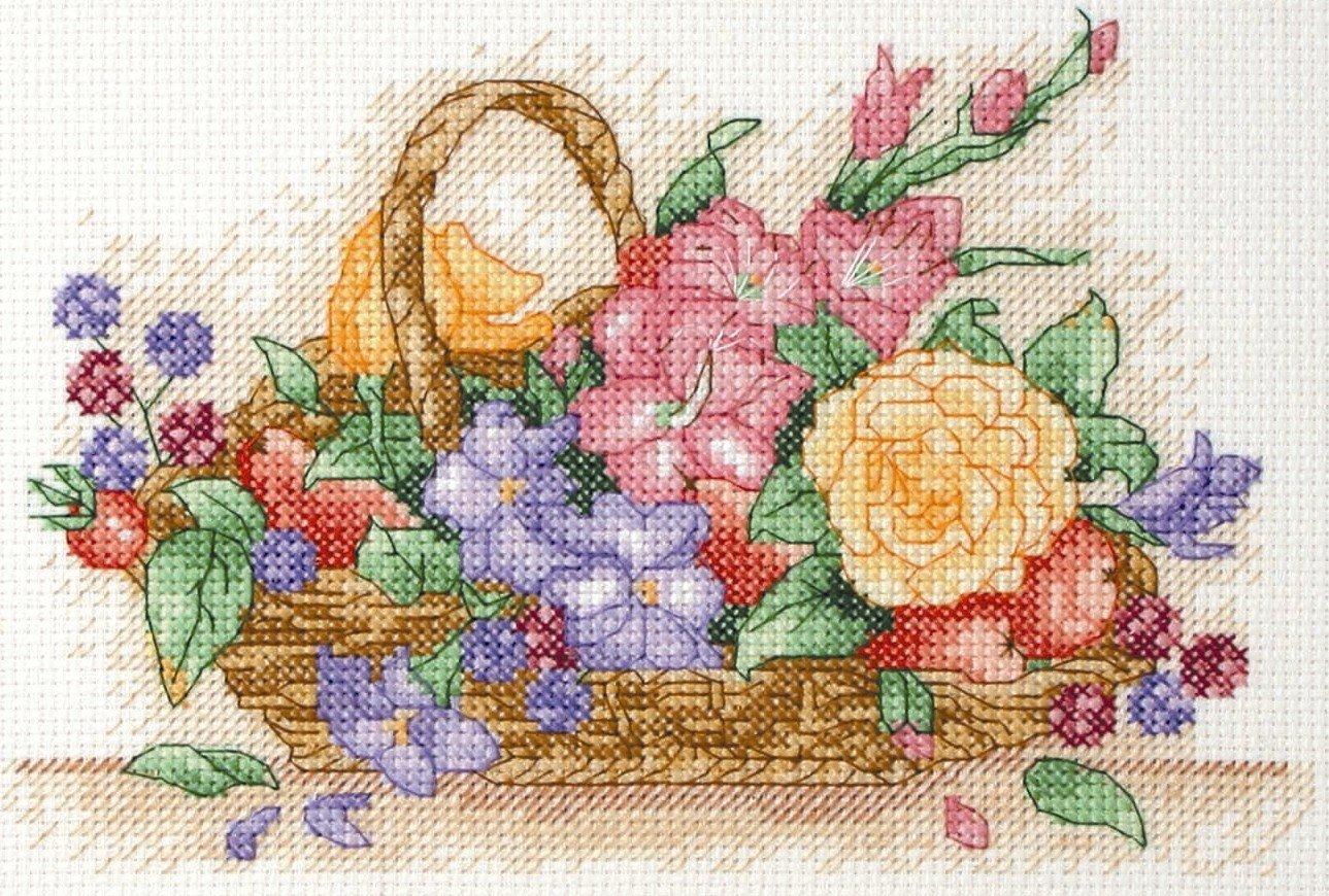 Kit de punto de cruz para principiantes Anchor Starters dise/ño floral