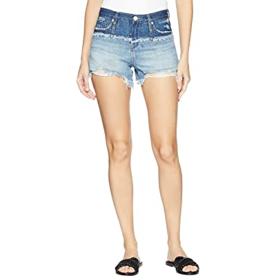 [BLANKNYC] Blank NYC Womens The Essex High-Rise Shorts in Mean Streak at Women's Clothing store