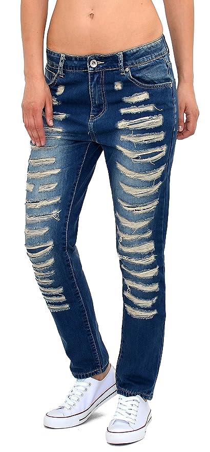 Damen Jeans Hose Damen Boyfriedhose Destroyed Jeans Damen Risse Hose Z115