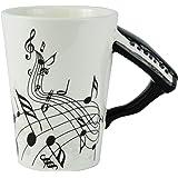 Fairly Odd Novelties Black Piano Musical Coffee Mug