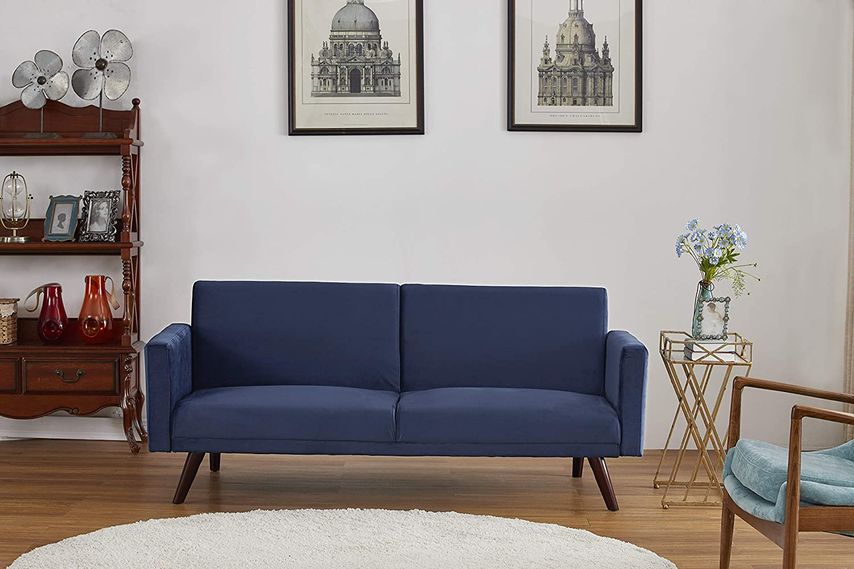 US Pride Furniture SB 9081 Sofabed, Dark Blue
