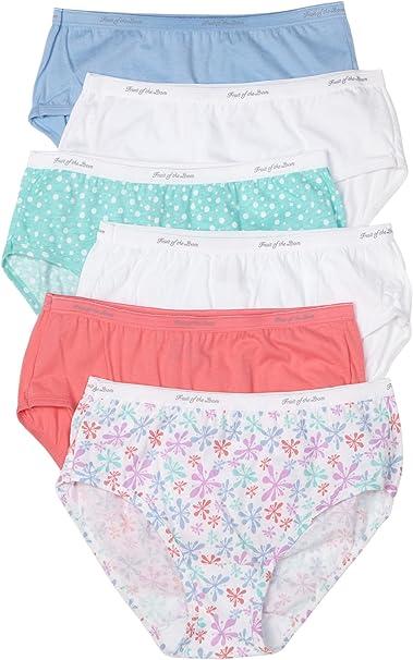 6 Pack Women/'s Cotton Low-Rise Brief Panties