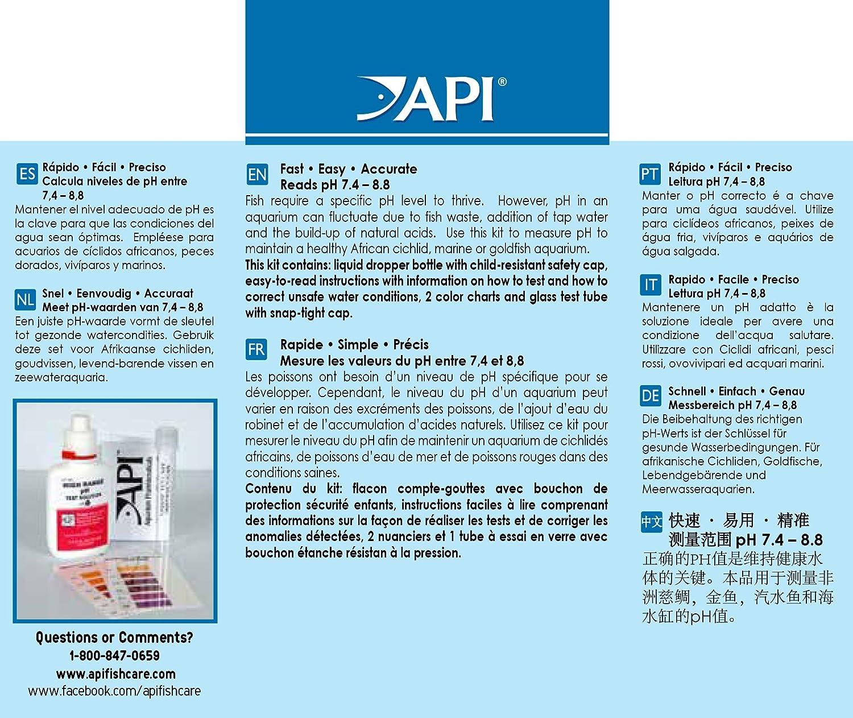 Amazon Api High Range Ph Test Kit 160 Test Freshwater And