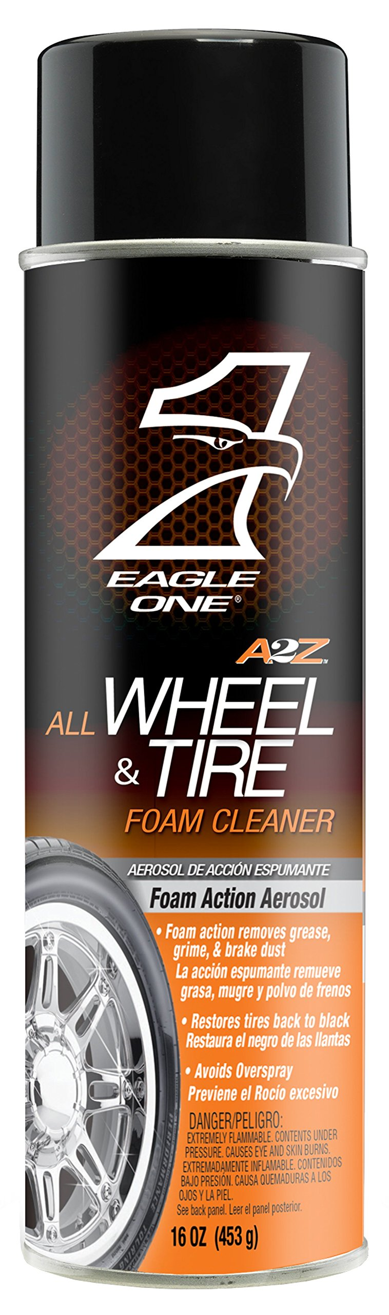 Eagle One E301345600 A2Z All Wheel and Tire Foam Cleaner, 16 fl. oz.