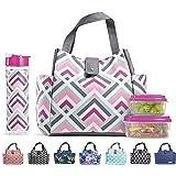 Fit & Fresh Mujer Westport aislados bolsa de almuerzo con a juego reutilizable Contenedor Set, Paquete de hielo y 567gram bo