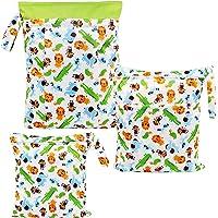 LinStyle Bolsa de Pañales, 3 PCS Impermeable Con