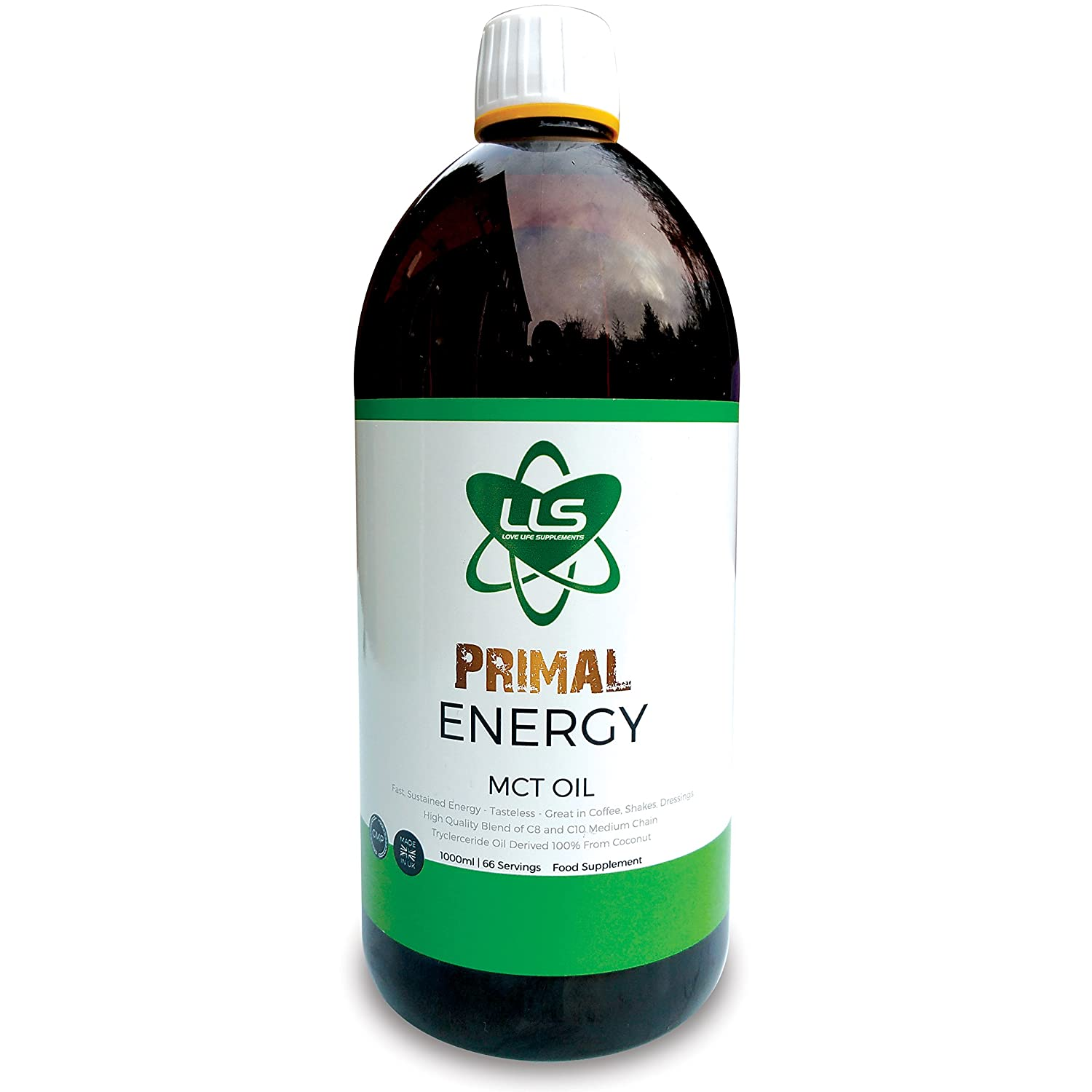 Lls primal energy c8 mct oil the only gmp certified c8 mct on lls primal energy mct oil 1000ml bottle 100 coconut medium chain tryglycerides xflitez Choice Image