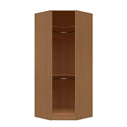 Manhattan Comfort Chelsea Collection Free Standing Corner Wardrobe Closet  With 2 Hanging Rods, 36.22u0026quot;