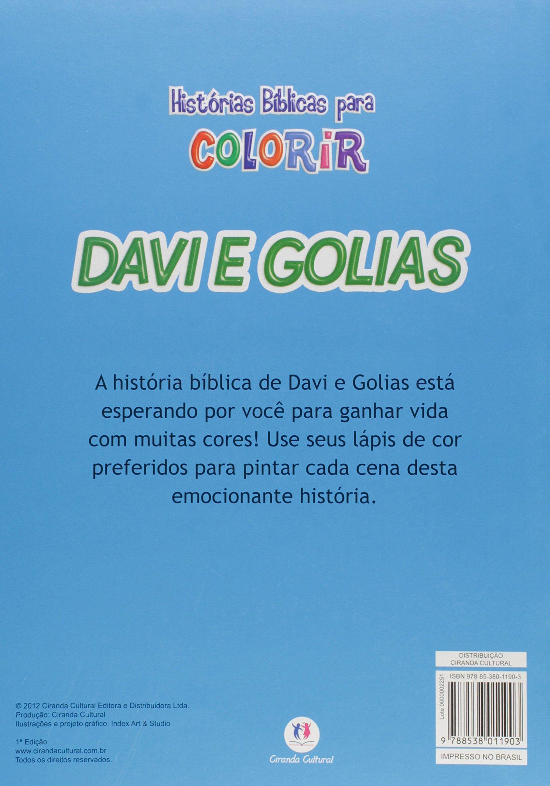 Davi E Golias Colecao Historias B Blicas Para Colorir Ciranda