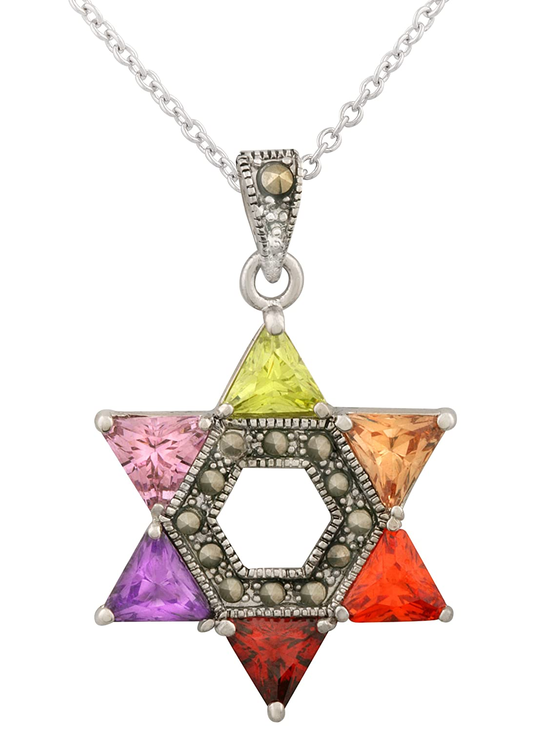 david zoom by star alef of necklace diamond jewelry jewish bet r loading paula magen