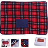 Portable USB Lap Heated Throw Blanket, Winter Warming Heating Blanket Throw Electric USB for Car Home Office Outdoor Removabl
