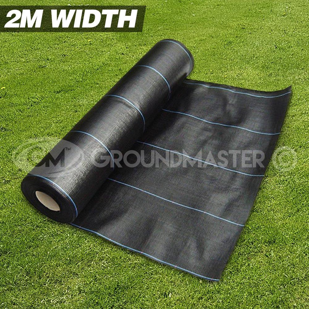 groundmaster Largeur 2m Tissu anti mauvaises herbes Ultra résistant pour couvrir sol membrane 2m x 10m