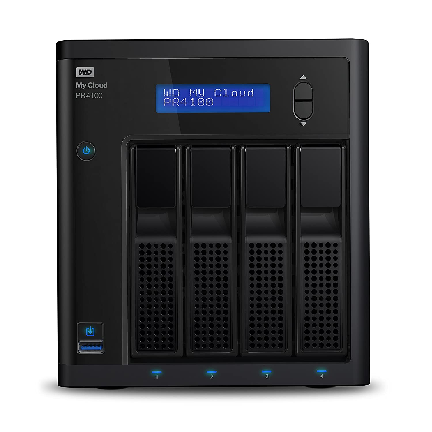 WD Diskless My Cloud Pro Series PR4100 Network Attached Storage - NAS - WDBNFA0000NBK-NESN