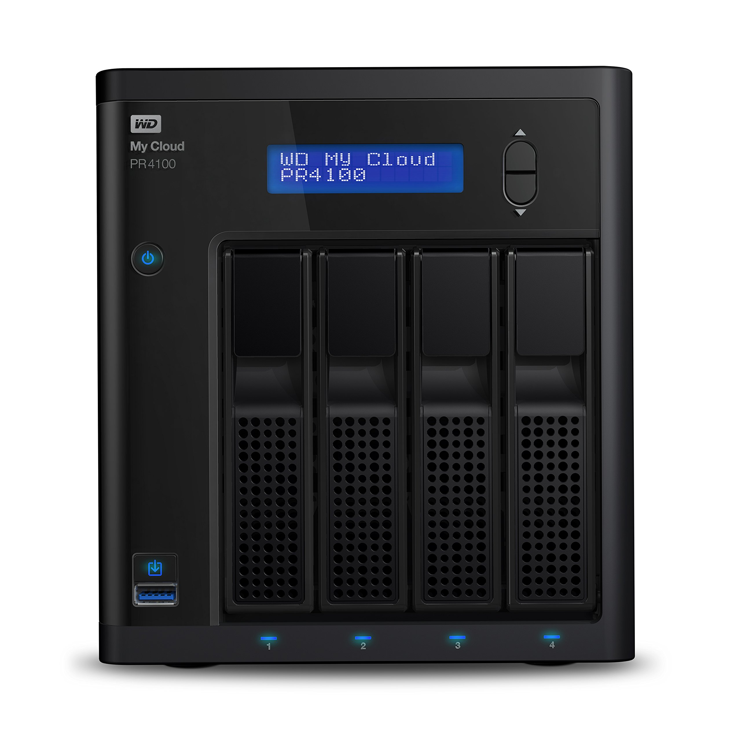 WD Diskless My CloudPro Series PR4100 Network Attached Storage - NAS - WDBNFA0000NBK-NESN by Western Digital