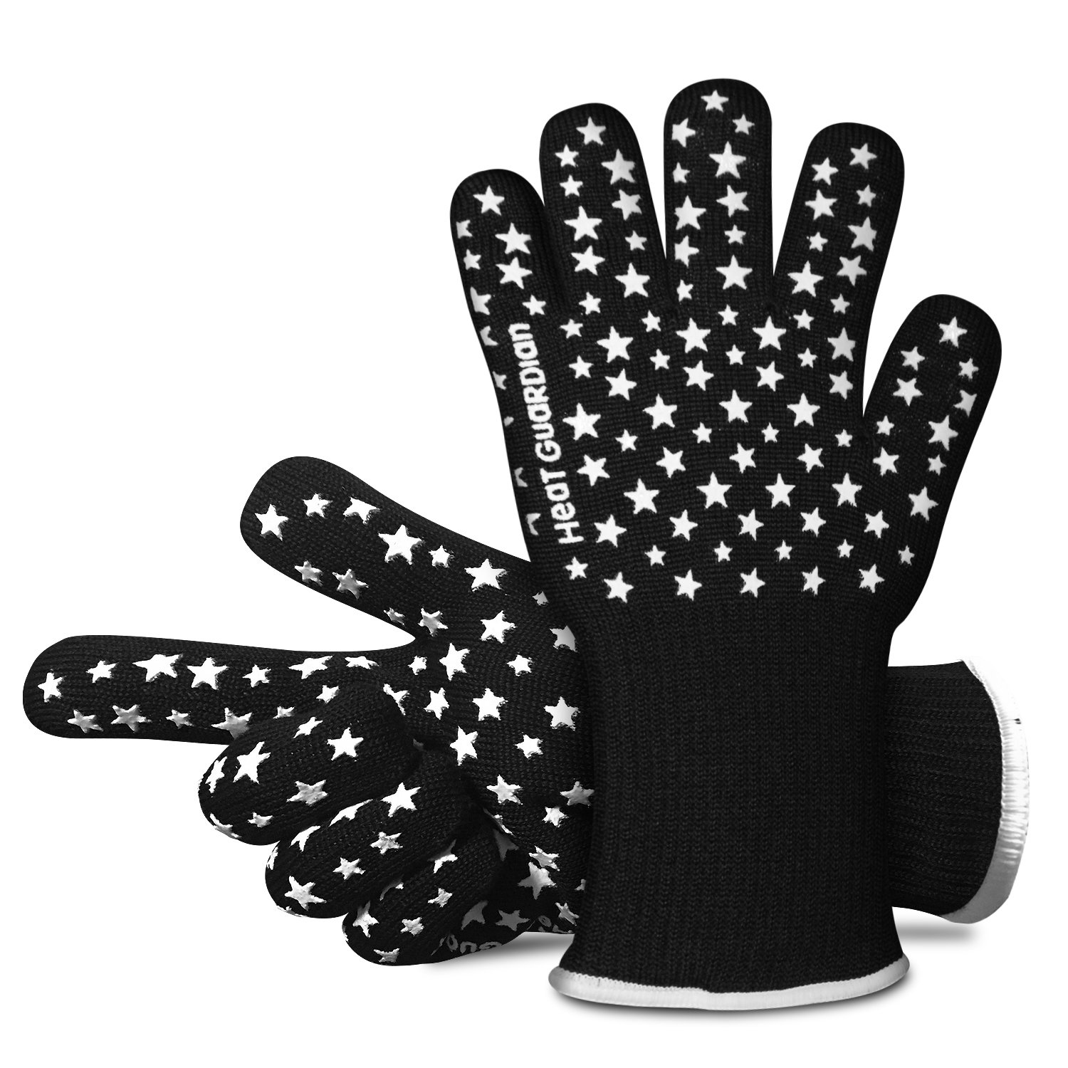 Heat Guardian Heat Resistant Gloves – Protective Gloves Withstand Heat Up To 932℉ – Use As Oven Mitts, Pot Holders, Heat Resistant Gloves for Grilling