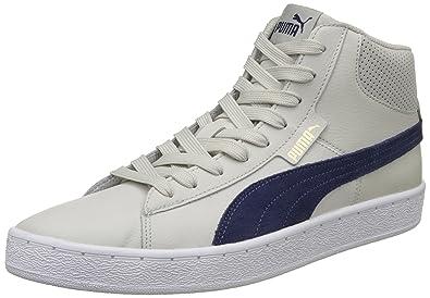 cbbc87f9ced Puma Men s Puma 1948 Mid Sl Idp Gray Violet-Blue De Puma Black Sneakers -