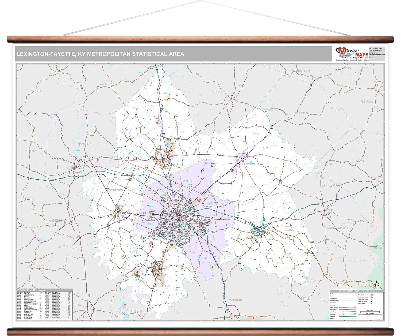 Amazon MarketMAPS Lexington Fayette KY Metro Area Wall Map