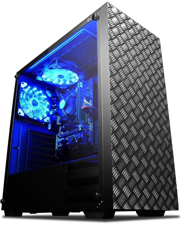 VIBOX Vision 2L Gaming PC Ordenador de sobremesa con War Thunder Cupón de juego (3,9GHz AMD A4 Dual-Core Procesador, Radeon 8370D Gráficos Chip, 16GB RAM, ...