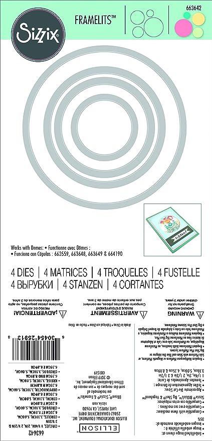 6 STK 6,4cm Einheitsgr/ö/ße klar Kreis Sizzix Shaker Domes 663649