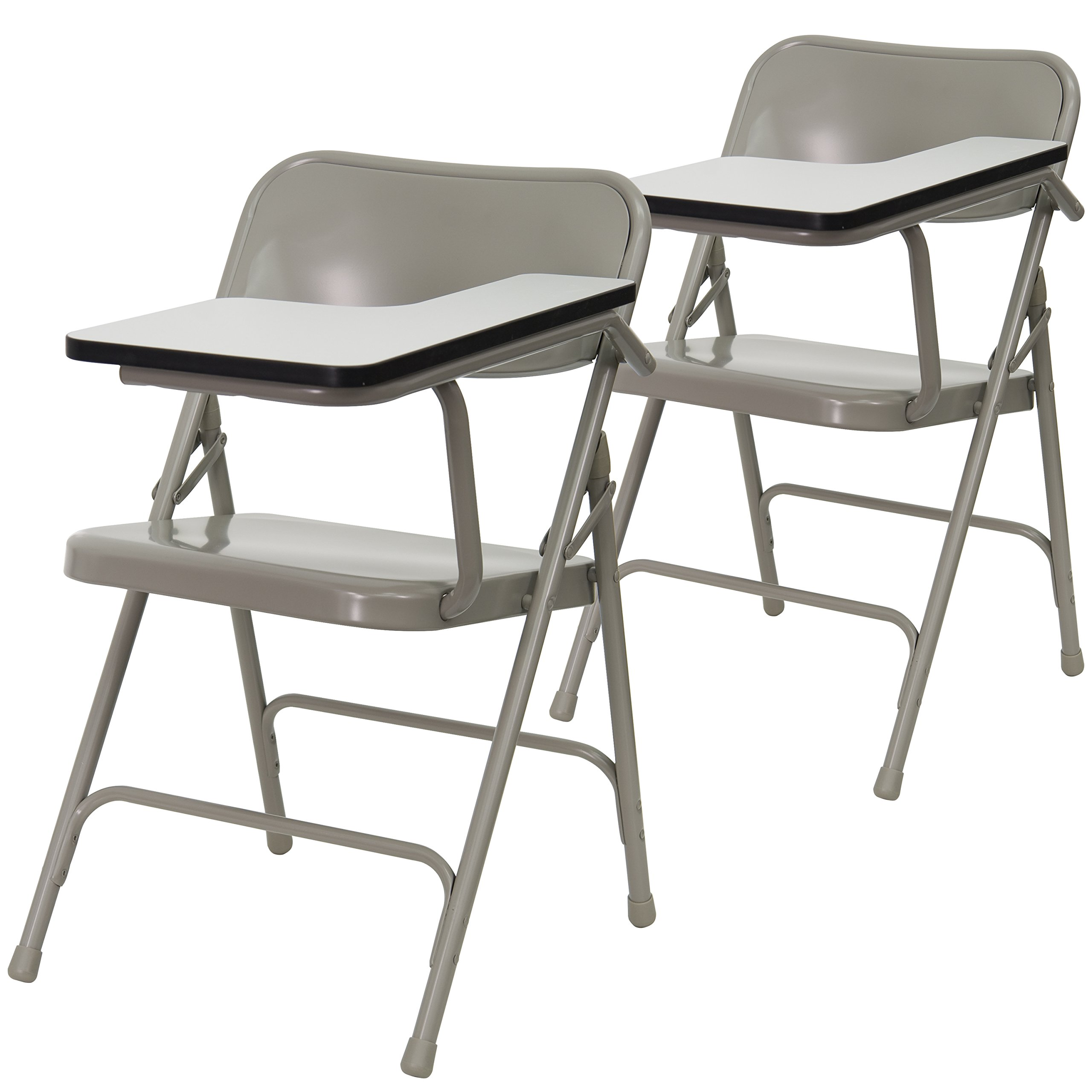 Flash Furniture 2 Pk. Premium Steel Folding Chair with Left Handed Tablet Arm by Flash Furniture