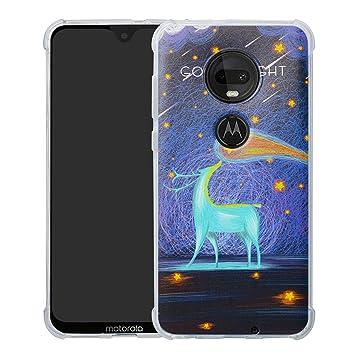 HHDY Funda Moto G7, Pintura Ultrafina Suave TPU Silicona Diseño de Bumper Cojín de Aire Protección Cover para Motorola Moto G7 / G7 Plus/T-Mobile ...