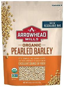Arrowhead Mills Organic Pearled Barley, 28 oz. Bag (Pack of 6)