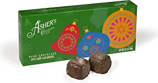 product image for Asher's Chocolates, Chocolate Covered Caramels, Holiday Assortment of Candy, Small Batches of Kosher Chocolate, Family Owned Since 1892, 8 count (Dark Chocolate)