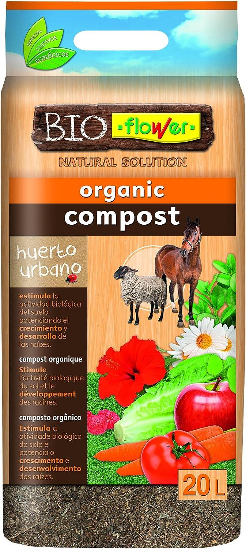 Flower 80153 80153-Compost orgánico, 20 l, No No Aplica, 30x5x55 ...