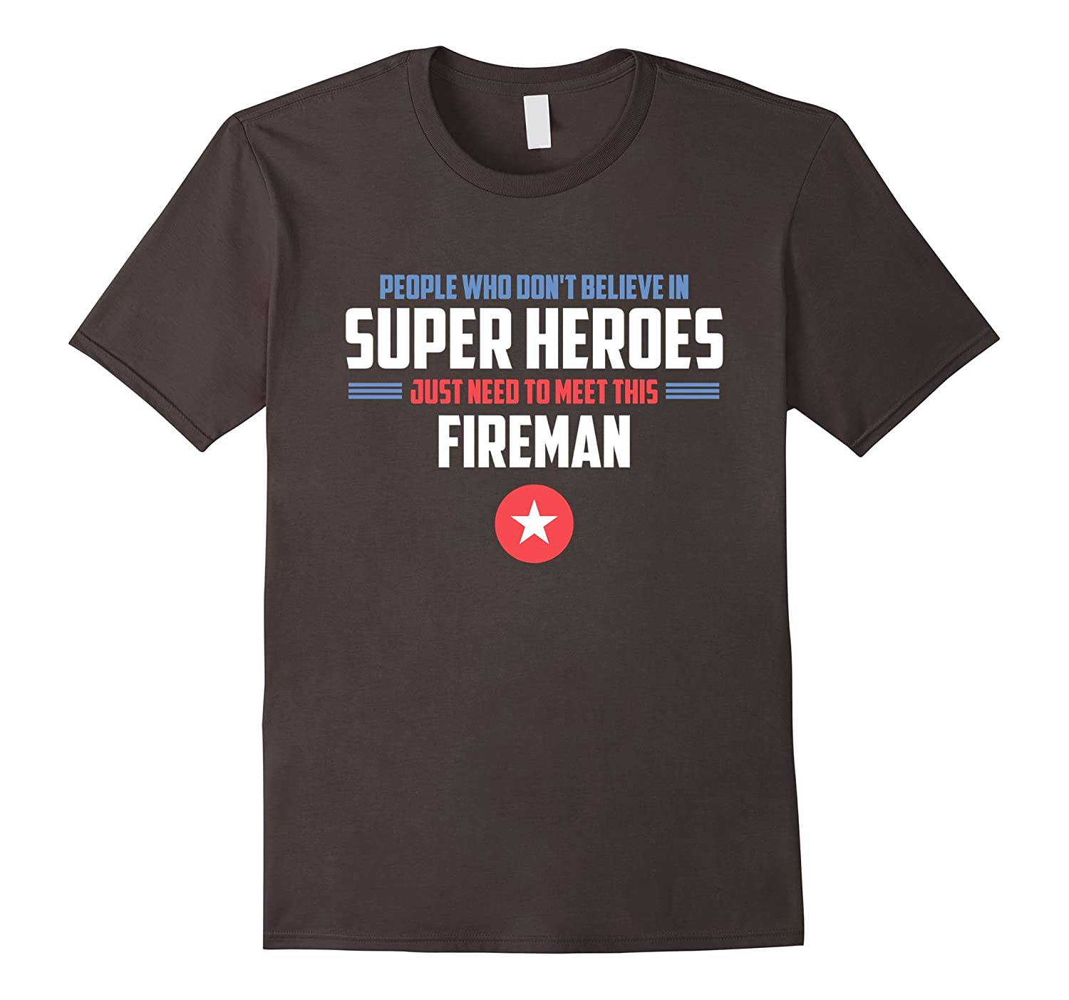 Super Hero Fireman Shirt Gift for Firefighter-TH