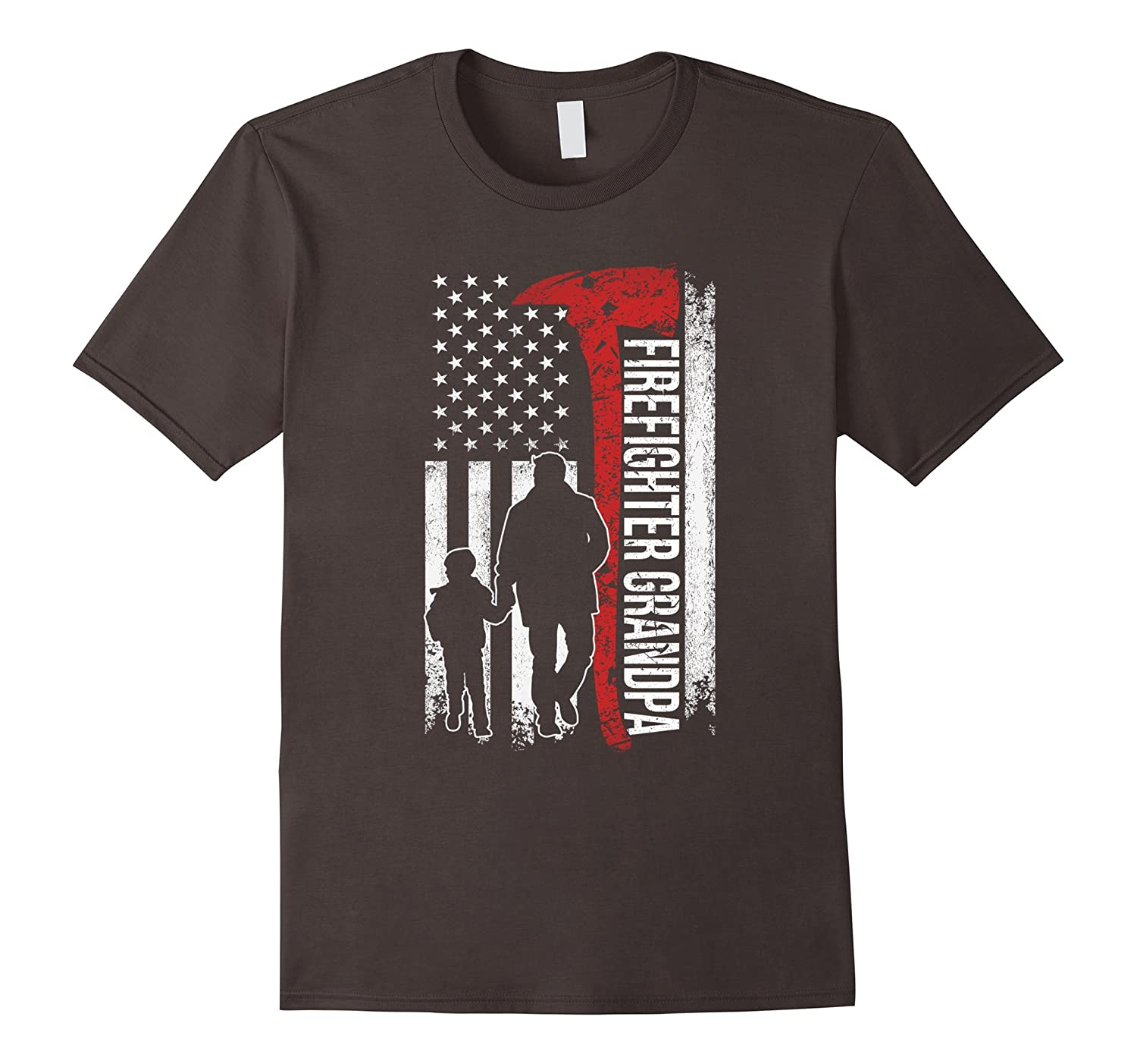 firefighter grandpa grandparent day father day T-shirt